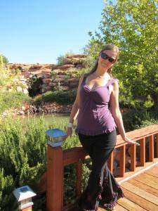Being myself, celebrating my 30th birthday in the healing garden at Sedona Mago Retreat Center.